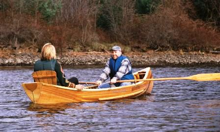 Skylark Square Stern Canoe -Tim and Kathleen out on Barton Cove