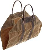 American Traders Log Carrier Made from tough Canvas and Leather