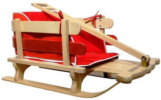 American traders Baby Sled with Pull handle and Red Pad